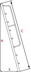 нужные размеры для расчета лестницы в подвал